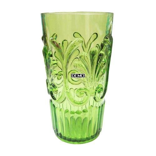 Case Pack of 24 Le Cadeaux Fleur Green Polycarbonate Long Drink Glasses by Le Cadeaux
