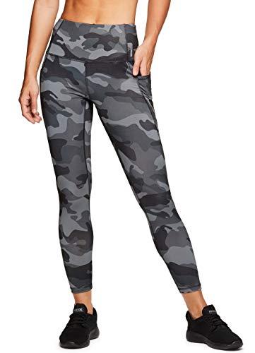RBX Active Women's Camo Workout Yoga Leggings F18 Black camo S (Supplex Pant Gym)
