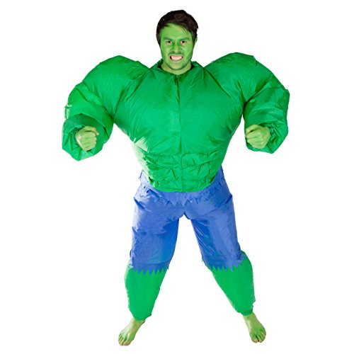 Bodysocks Adult Inflatable Hulk Fancy Dress Costume