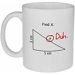 Find X Funny Math Mug