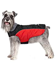 IREENUO Dog Coat Waterproof, Warm Dog Jacket for Fall Winter, Reflective Adjustable Rainproof Puppy Coat for Small Dogs
