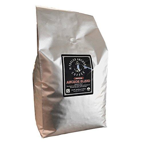 Ground Organic Coffee by Fouled Anchor, Medium Roast, Fair Trade, Specialty grade, Great Tasting and Fresh Small Batch Roasted, 5 lb Bulk Bag