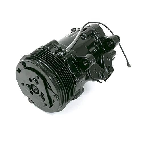 A-Team Performance HC5005BK A/C Compressor Sanden SD-7 Type 6-Groove Serpentine Aluminum Housing (Black) ()