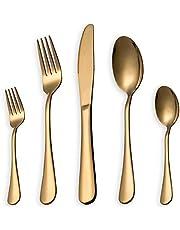 HOMQUEN Edelstahl Besteckset, Besteckset, Geschirrset, Geschirrset (Schwarz, Kupfer, Gold, Bunt)