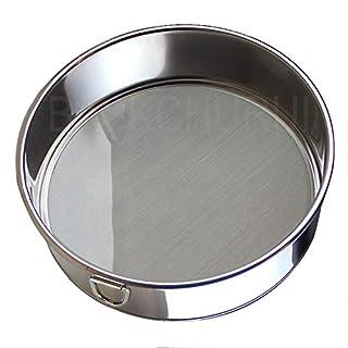 Flour Sifter for Baking - Flour Sieve Fine Mesh (6 Inch 60 Mesh) - Premium Rustproof Stainless Steel