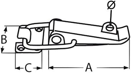 1 St/ück Edelstahl Spannverschluss Kistenverschluss Klapp Hebel Verschluss L/änge ca 100 mm