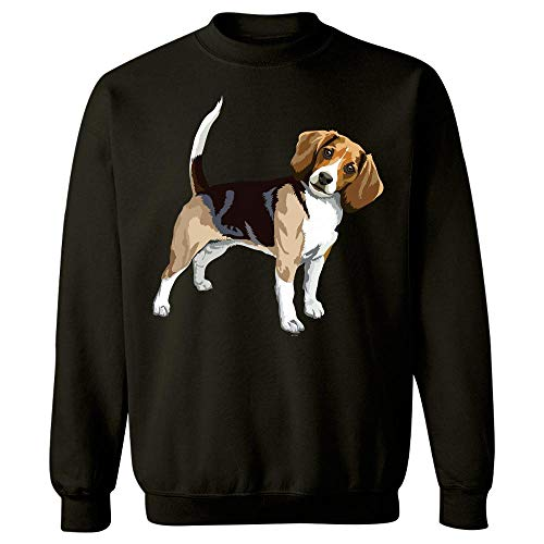 (Gifts for Beagle Lovers Owners Dog pop Art Present - Sweatshirt Black)
