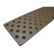 "Handi-Treads Non Slip Aluminum Stair Tread,  Powder Coated Brown, 3.75"" x 30"" with Color Matching Wood Screws, Each"
