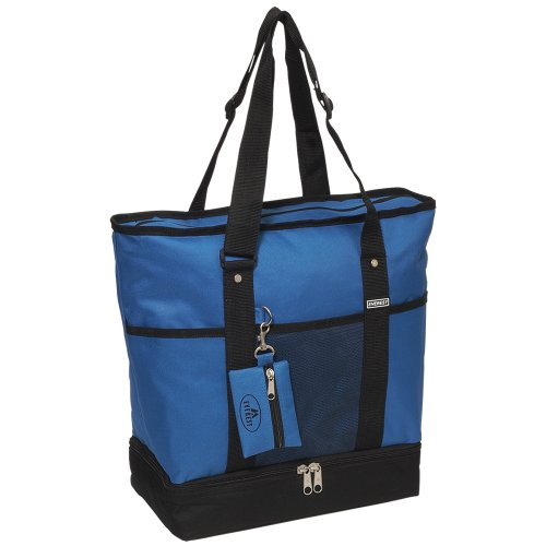 Everest Luggage Deluxe Shopping Tote, Royal Blue/Black, Royal Blue/Black, One Size