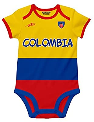 Arza Sports Colombia Soccer Baby Outfit Onesie mameluco