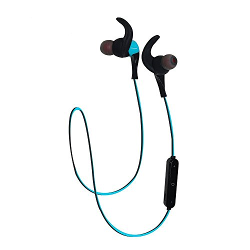 LoongSon Best Bluetooth Headphones Headsets, Mini Wireless Bluetooth 4.2 HD Stereo Sweatproof in Ear Earbuds for Gym Running, Sports Earphones with Microphone and Noise Cancelling (Blue)