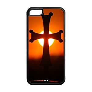 Fashion Protector Jesus Christ Christian Cross Back Hard Cover Case For iPhone 5c