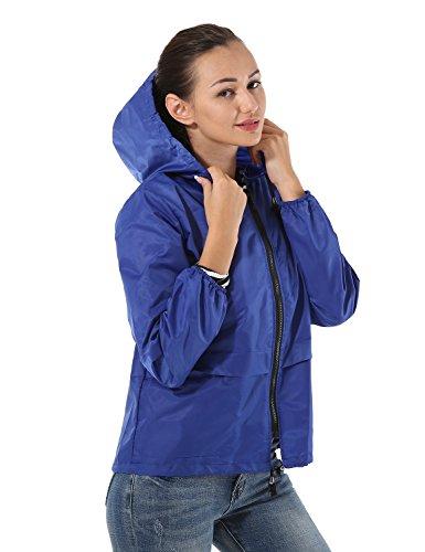 Manches au Hooded Rabbit de neige vent Femme preuve Plein tanche Bleu Impermable longues air de Impermable Veste Impermable Flying qx40wXqt