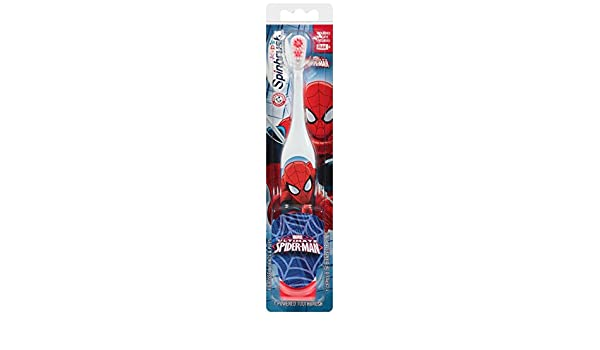 Amazon.com: Spinbrush 766878002705 Spiderman Battery Powered Toothbrush, 9.1