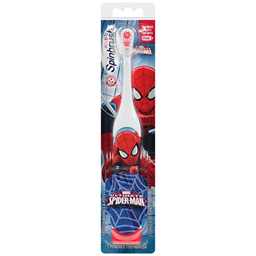 "Spinbrush 766878002705 Spiderman Battery Powered Toothbrush, 9.1"" Height, 1.5"" Width, 2.1"" Length (Pack of 24)"