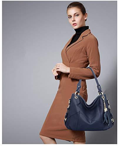 Coolives Azul Bolsa Bolsos Marino de Mano Bandolera para Bolsas Moda de Mujer Bolso de Dama qqfrcWS