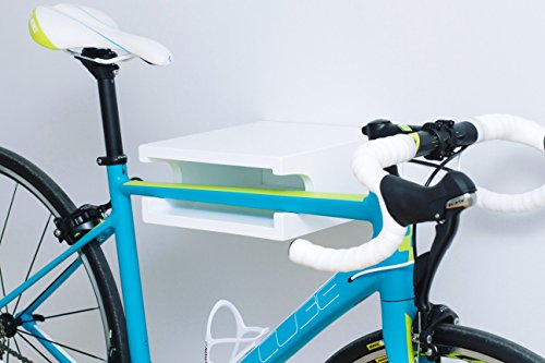 Soporte para bicicleta en madera de álamo lacado blanco: Amazon.es ...