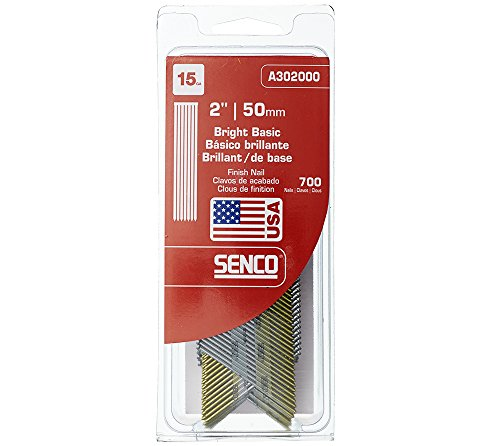 Senco A302000 15-Gauge by 2-Inch Bright Basic Finish