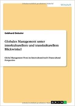 Book Globales Management Unter Interkulturellem Und Transkulturellem Blickwinkel