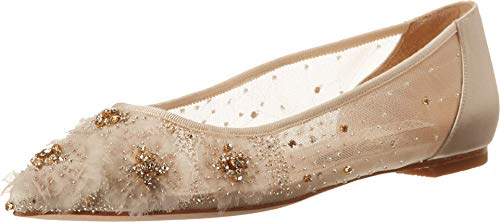 Badgley Mischka Women's Adrienne Shoe, Ivory Satin, 6 M US
