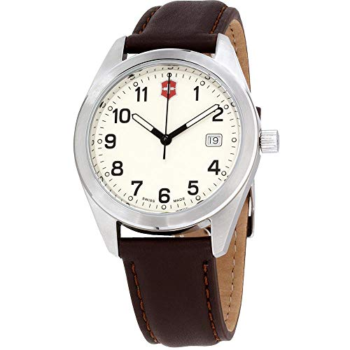 Victorinox Garrison White Dial Leather Strap Men's Watch 26028CB
