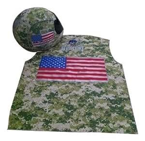 SkullSkins United We Ride Reflective Motorcycle Jacket Vest (Camouflage, Small)