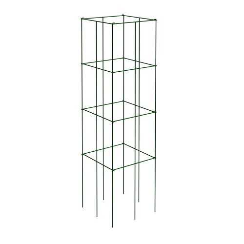 Panacea Products 89731 4-Panel Tomato and Plant Support Tower, Dark Green (Pack of 3)