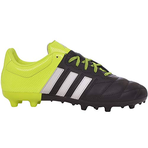 adidas Performance Boys ACE 15.3 FG/AG Leather Soccer Boots - Black - 5 (Best Leather Football Boots)