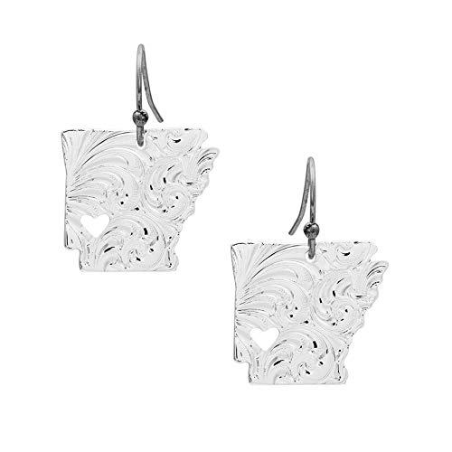 (I Heart Arkansas State Charm Earrings)