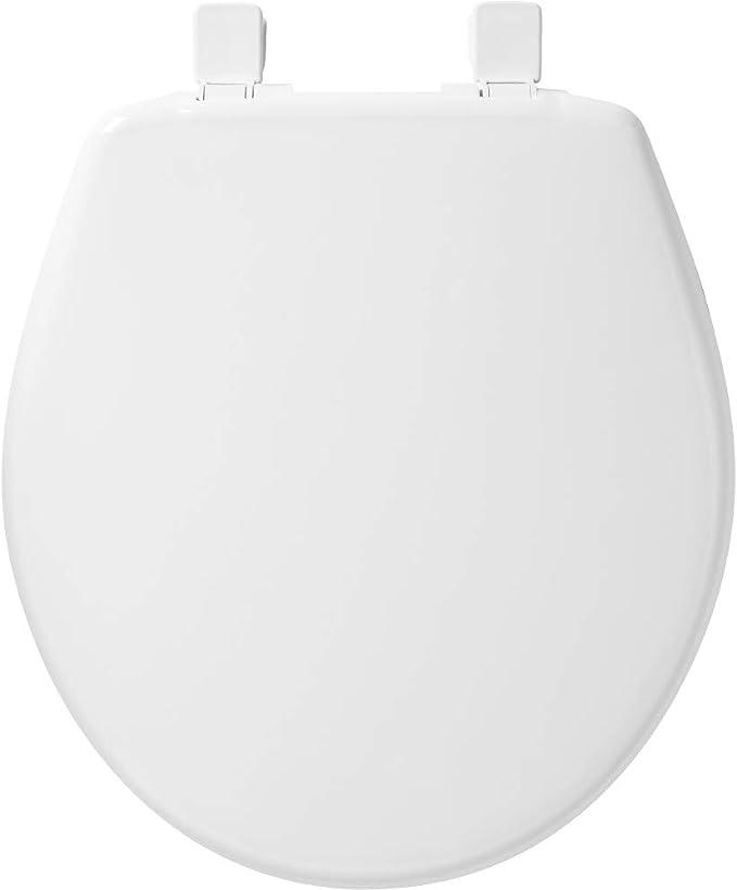 NIB Church White Wood Round Slow Close Toilet Seat Easy Clean 7204SLOW L3