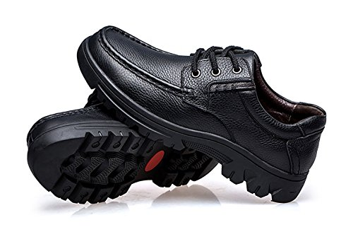 NiNE CiF Mens Leather Shoes Casual Work Shoes Black IPeKLN4