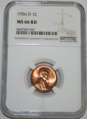 1956 D Lincoln Cent Cent MS66 NGC RD