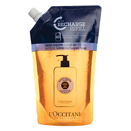 L'Occitane Shea Butter Lavender Liquid Soap Refill Pack, 16.9 Fl. oz.