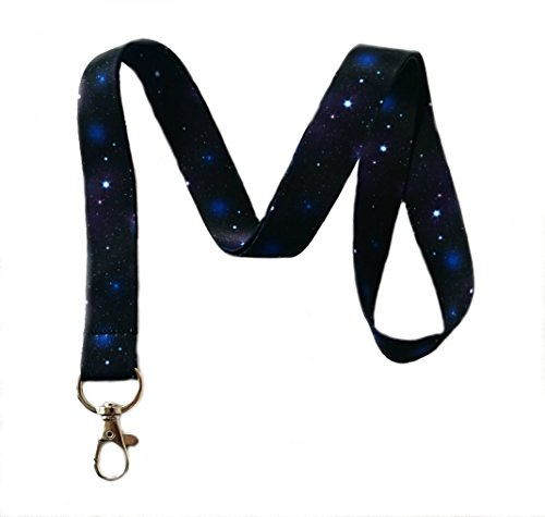 (Galaxy Print Lanyard Key Chain Id Badge Holder)