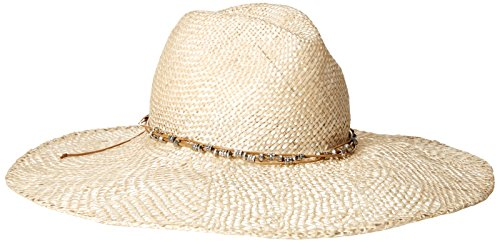 Gottex Women's Jordan Pearl Hemp Straw Sun Hat, Rated UPF 30, ECRU, Adjustable Head Size by Gottex