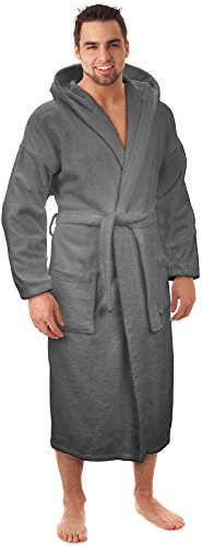 Hooded Terry Bathrobe Made in Turkey (Male Robes)