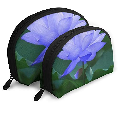 Makeup Bag Popular Lotus Flower Floral Portable Shell Clutch Pouch For Girls Easter Gift 2 Pack