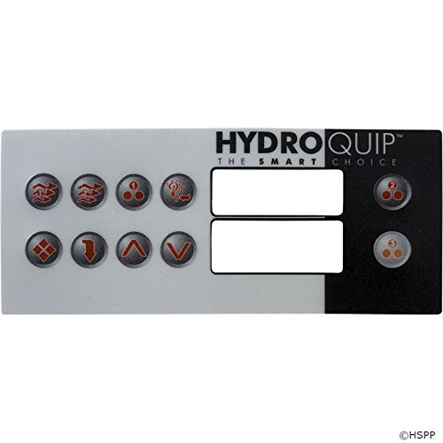 Ht2 Spa - Hydro Quip Overlay, HT2, 10 Button, Large Rec