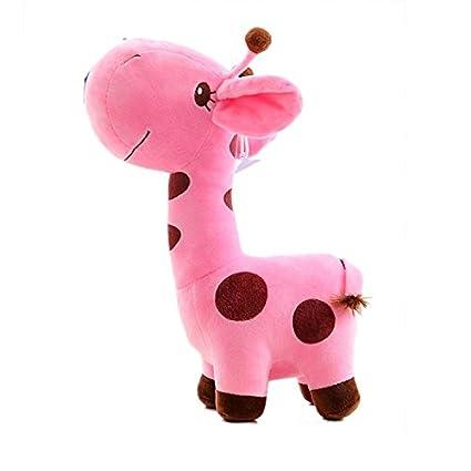 Juguete de animal de peluche jirafa muñeca calma jirafa