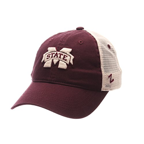 Mississippi State Cap - NCAA Mississippi State Bulldogs Adult Men University Relaxed Cap, Adjustable, Team Color/Stone