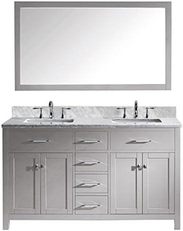 Virtu USA MD-2060-WMSQ-CG-001 Caroline Double Bathroom Vanity