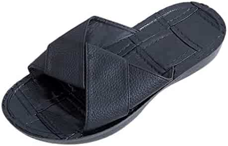 Londony♥Men's Comfortable Non Slip Shower Shoe Beach Slide Sandal Slipper Shower/Pool/Beach/Garden Quick Drying Sandal