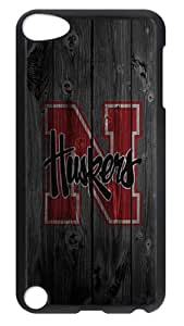 iPod Touch 5 Case, iPod 5 Case - Stylish Wood HUSkers Design Hard Case Back Cover for Apple iPod Touch 5 / iPod 5th Generation / iPod 5 Black
