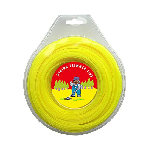 ZeeYee .095 Inches by 220 Feet Commercial Grade Square String Trimmer Line Replacement for Trimmers 1 Pound