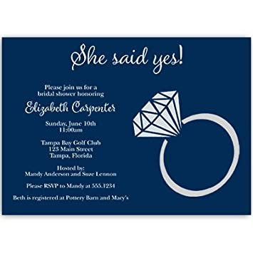 Amazoncom Bridal Shower Invitations She Said Yes Wedding Shower
