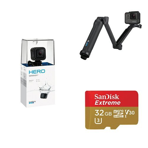 GoPro HERO Session w/ 3-Way Grip and Memory Card by GoPro