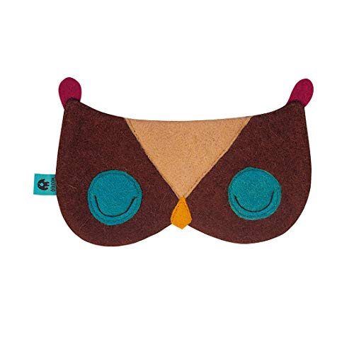 Good Night Sleep Mask - Cute Owl Eye Cover, Soft & Comfortable Blindfold, Best Gift for Women & Men, Ultimate Sleep Aid for Travel & Night Sleep