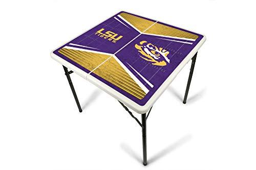 Sports Lsu Table Ncaa Tigers - PROLINE NCAA College LSU Tigers 2.5' x 2.5' Folding Plastic Tailgate Table