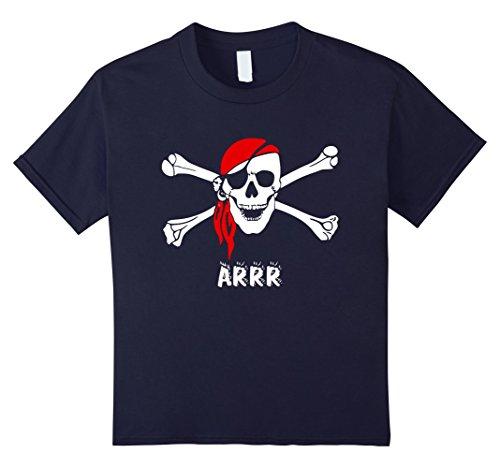 Adult Unisex Pirate Shirt (unisex-child Pirate shirt kids or adults Skull and Crossbones boys Tshirt 12 Navy)