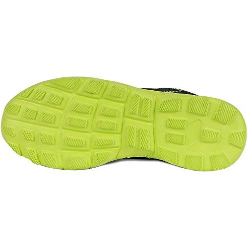 Nuevos Deportes Zapatillas Para Caminar Hombres Running Entrenador Casual Athletic Fitness Zapatos Negro Verde